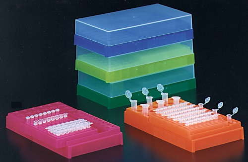 PCR WORKUP RACK FLUORESCENT ASSORTED COLOURS